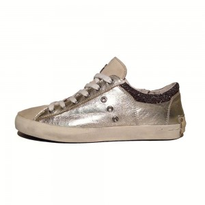 Crime London Sneaker 250118S16 gold 2