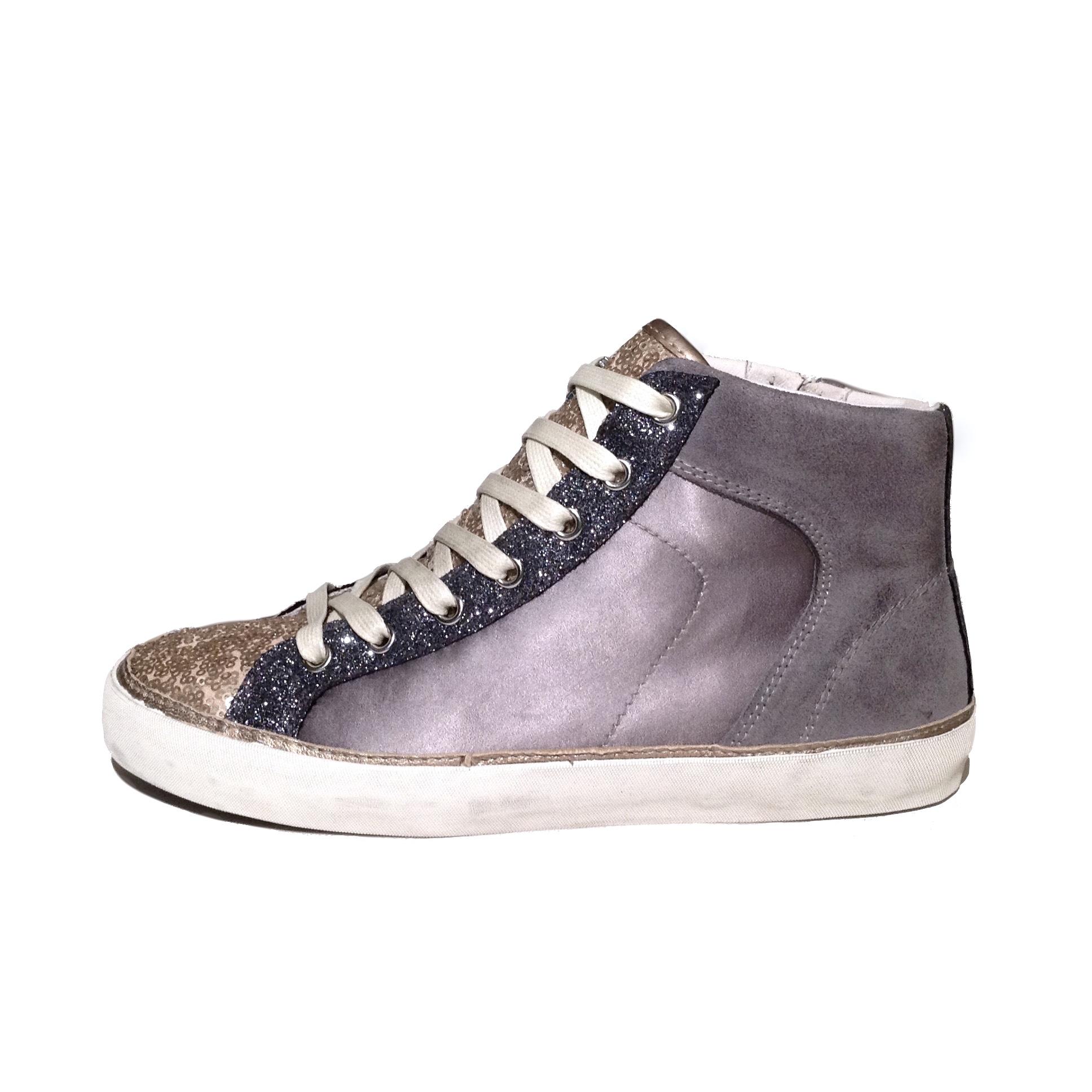 crime london sneaker 25041s16 anthra hightop sneaker f r frauen ebay. Black Bedroom Furniture Sets. Home Design Ideas