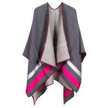 Sara Martignoni Poncho Grey Pink