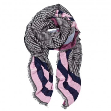 Sara Martignoni scarf 22850 rose navy