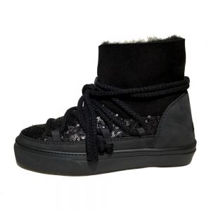 Inuikii Sneaker 23450 Sequin low black 1