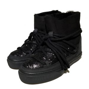 Inuikii Sneaker 23450 Sequin low black