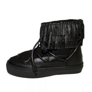 Inuikii Sneaker Fray Low black Boots 1