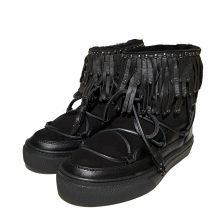 Inuikii Sneaker Fray Low black Boots