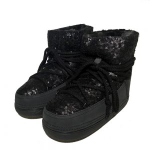 Inuikii boots 20350 sequin low black