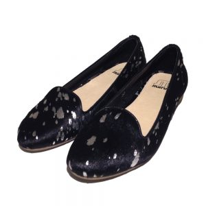 Maruti Loafer Rusty hairon leather black-silver 1