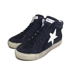 Meline Sneaker Glitter Blu Stern