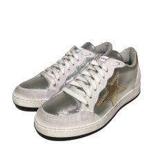 Meline Sneaker Laminato Argento Silver